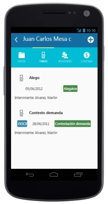 Android Interfaz de JxNet Mobile