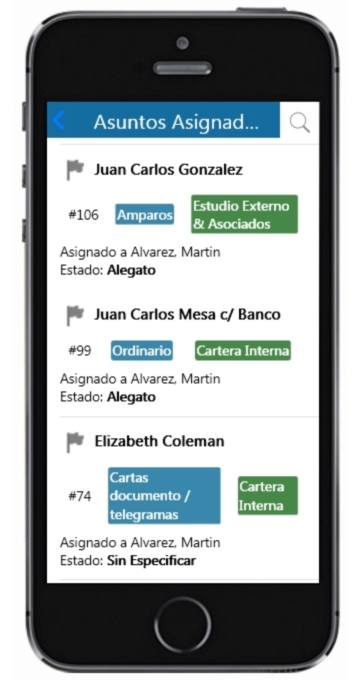 IOS Interfaz de JxNet Mobile